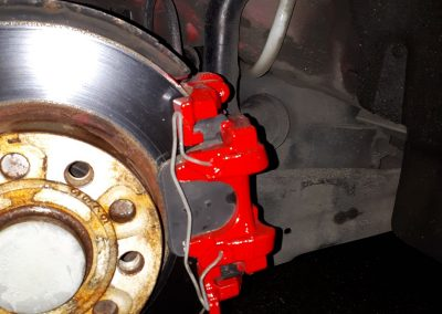Spray Painted Brake Caliper