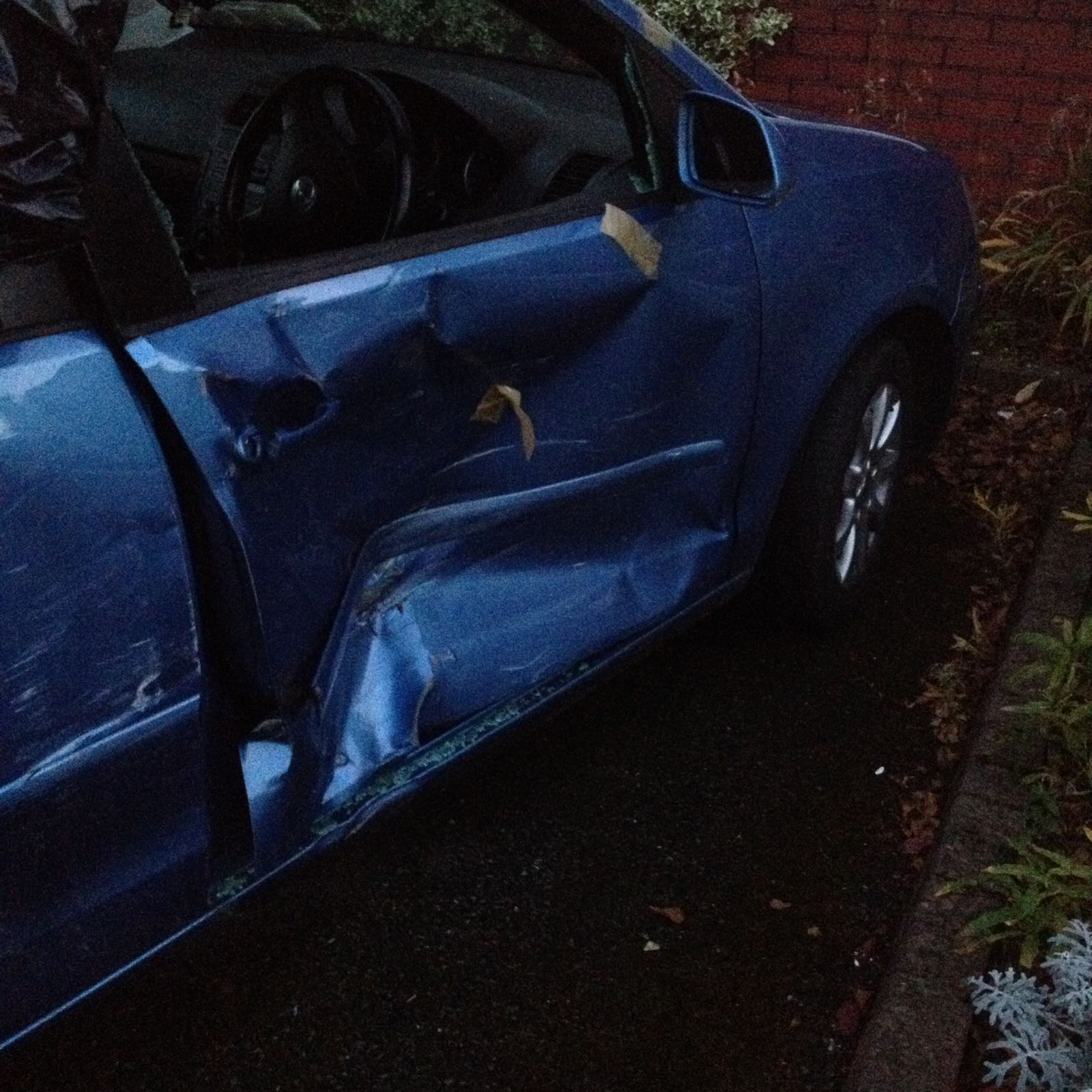 Image of a car with crash repair damage