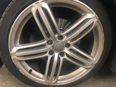 Audi Silver Wheel Repair After Image
