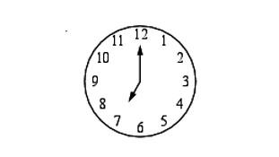 Задача 8 (№ 5616) - Какой наименьший угол (в градусах) образуют минутная и часовая стрелка часов в 7:00?
