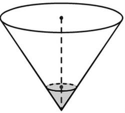 уровень жидкости, объем, конус
