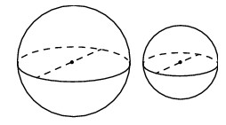 Однородный шар диаметром 6 см, Однородный шар диаметром 3 см, Однородный шар диаметром 4 см, Однородный шар диаметром 5 см