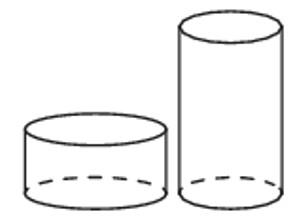 цилиндры, объем, радиус, высота