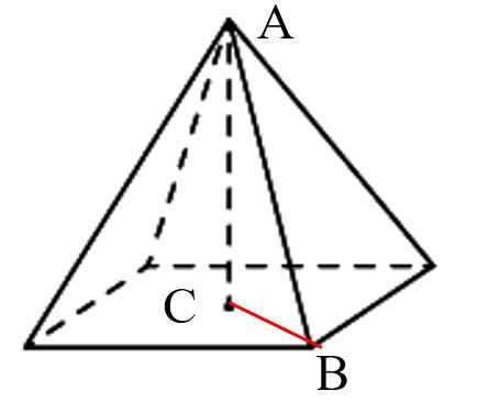 Задача 16 - Найдите объем правильной четырехугольной пирамиды