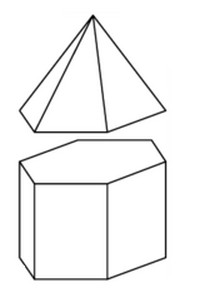 с ребром 1, грань, ребро, пирамида, призма