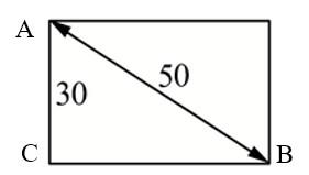 Диагональ прямоугольного телевизионного экрана