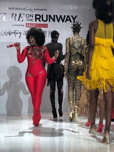 Amara La Negra Texture On The Runway