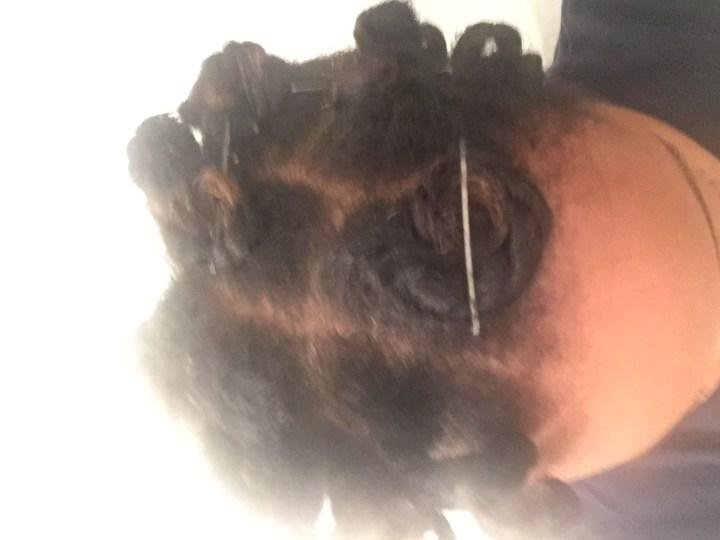 Curlformers taken down and in pincurls.