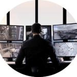 man-monitors-traffic round
