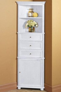 BATHROOM CORNER LINEN CABINET | BATHROOM CABINETS