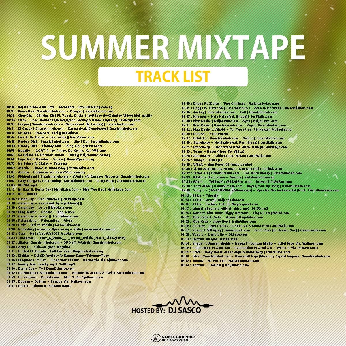 Deejay Sasco – Summer Mixtape