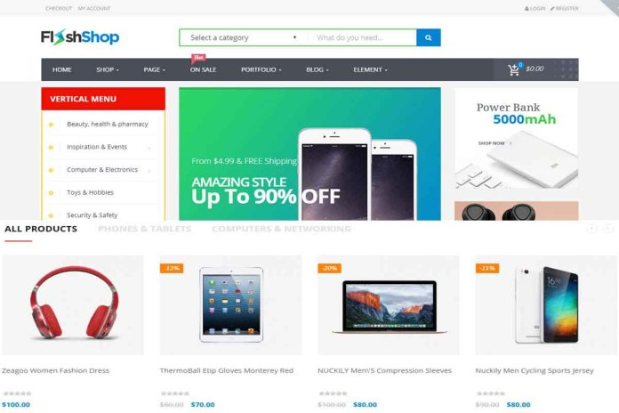 wordpress online shop template