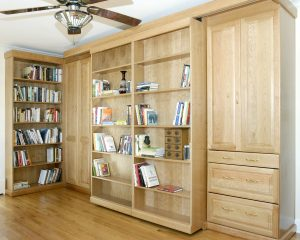 Murphy Bed Library Bed - Guest Bed Solution - SmartSpaces.com - Hidden Bed