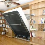 Murphy Bed Library Bed - Guest Bed Solution - SmartSpaces.com - Hidden Bed Descending