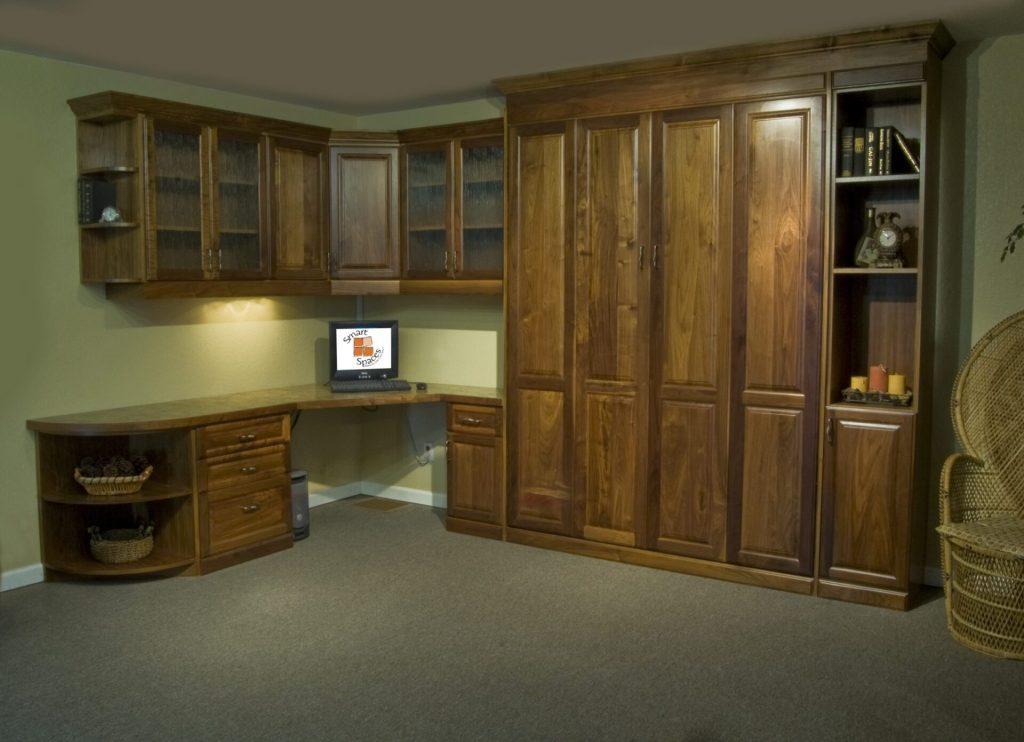murphy bed office. Murphy Bed Office Turned Guest Bedroom - Solution  SmartSpaces.com Hidden Murphy Bed Office