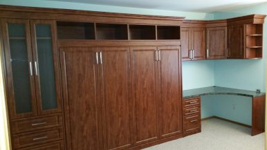 side-bed-traditional-office-cabinets-custom-counter
