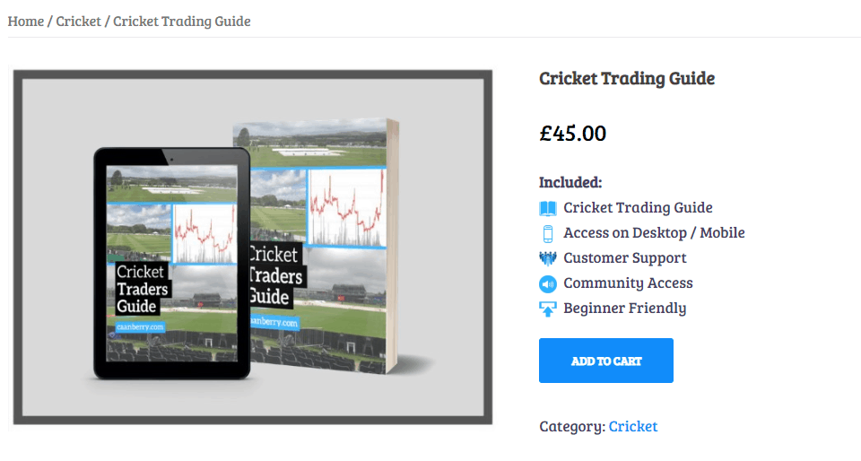 Caan Berry Cricket Trading Guide Price