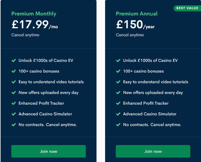 Bonus Accumulator Price