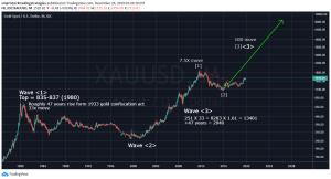 Gold Long Term Analysis using Elliot Wave Principles