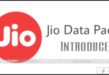 Jio Vouchers, Jio Data Packs