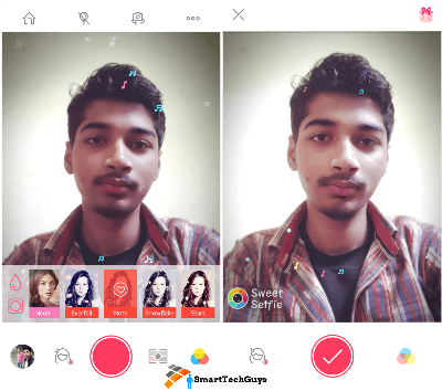 Sweet Selfie Candy New Name Interface
