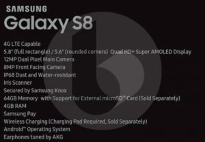 Samsung Galaxy S8 Final Leaks