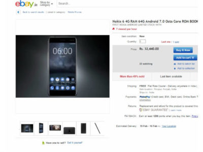 Nokia 6 Buy Now in India