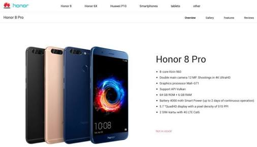 Honor 8 Pro Buy Now, Price in India