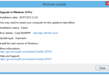 Window 10 Update