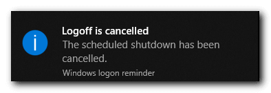 how to cancel auto shutdown timer