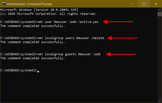 Create a Guest Account on Windows 10