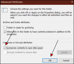 Compress OS Drive and Files to Save Disk Space on Windows 10