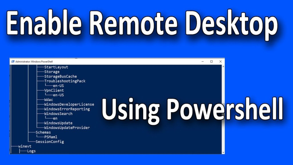 How to Enable Remote Desktop using PowerShell on Windows 11 or 10