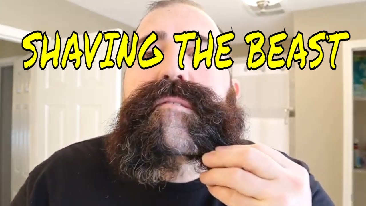 SHAVING 5 MONTHS OF GROWTH. My last beard for the next 20 years.