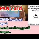 how download e-pan card in malayalam|how to download e pan card by pa...