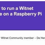 How to setup a Witnet Node on a Raspberry Pi