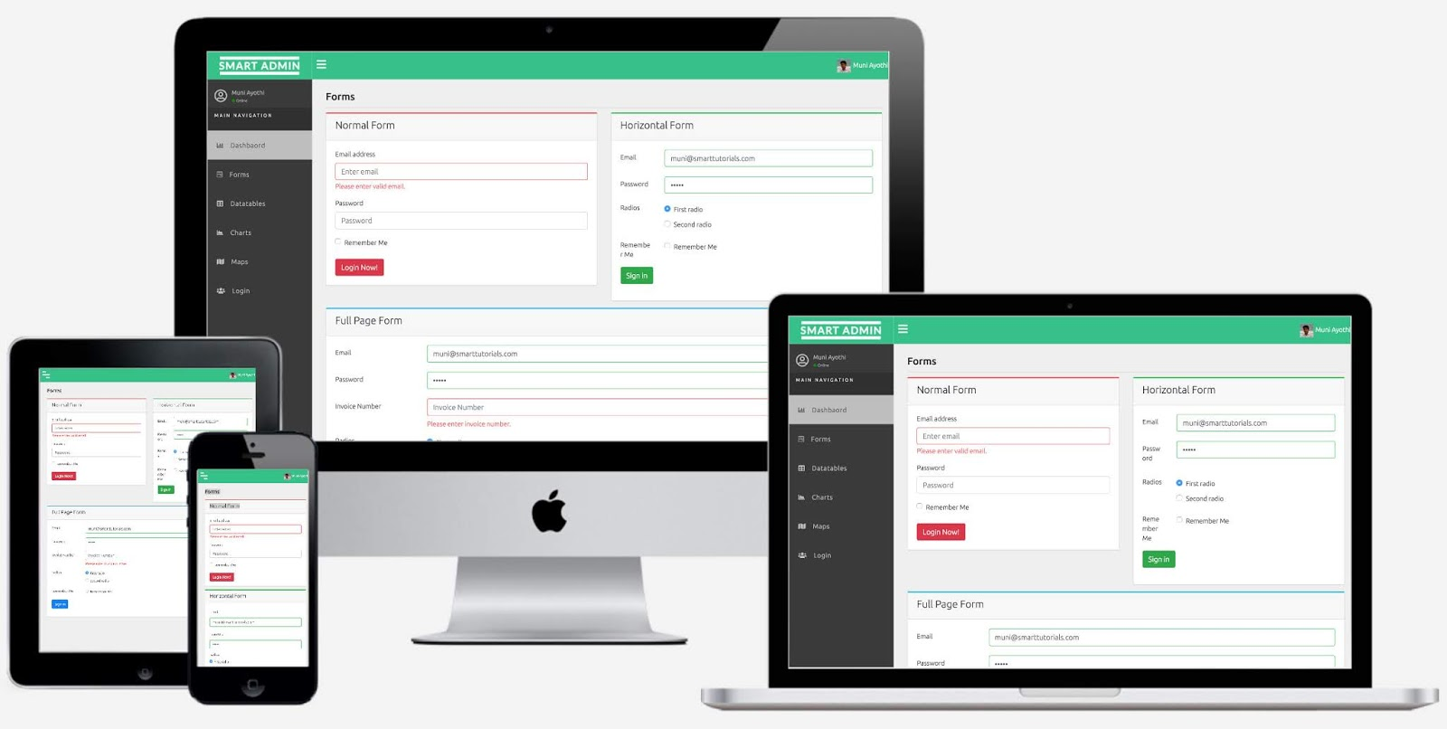 Free Responsive ReactJS Admin Template Using Bootstrap 4, HTML5