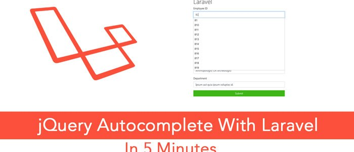 Integrate jQuery Autocomplete With Ajax Call in Laravel, MySQL in 5 Minutes