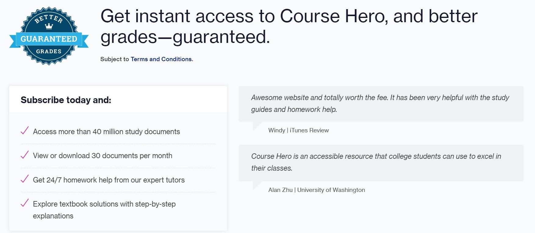 Course Hero worth it ?