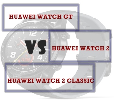 Huawei Watch GT vs Watch 2 Classic vs Watch 2 Compared