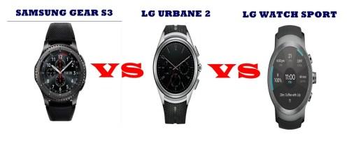 lg urbane 2 vs watch sport vs samsung gear s3 compared