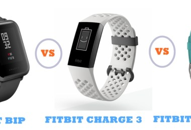 amazfit bip vs fitbit charge 3 vs charge 2 compared