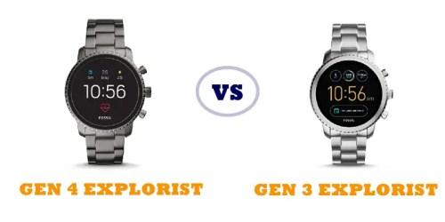 fossil gen 4 explorist vs gen 3 explorist compared