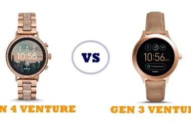 fossil gen 4 q venture vs gen 3 q venture compared
