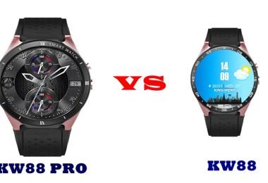 kingwear kw88 pro vs kw88 specs compared