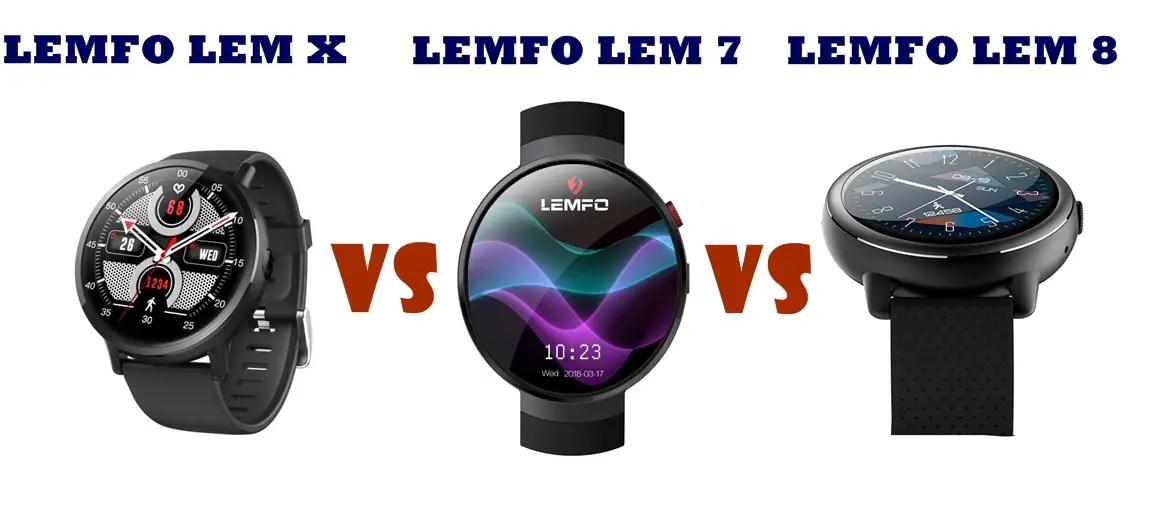 Lemfo LEM 7 vs LEM 8 vs LEM X