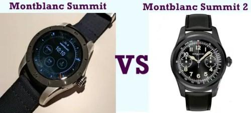 montblanc summit vs summit 2 compared head-to-head