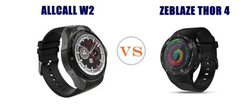 allcall w2 vs zeblaze thor 4 compared