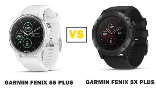 garmin fenix 5s plus vs 5x plus compared