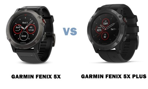 Garmin Fenix 5x Vs 5x Plus Compared Smartwatch Series